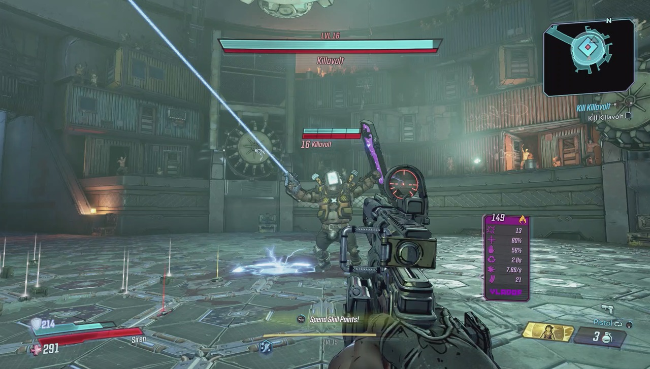 Borderlands 3's first patch notes confirm the KillaVolt fight isn't supposed to be that hard screenshot