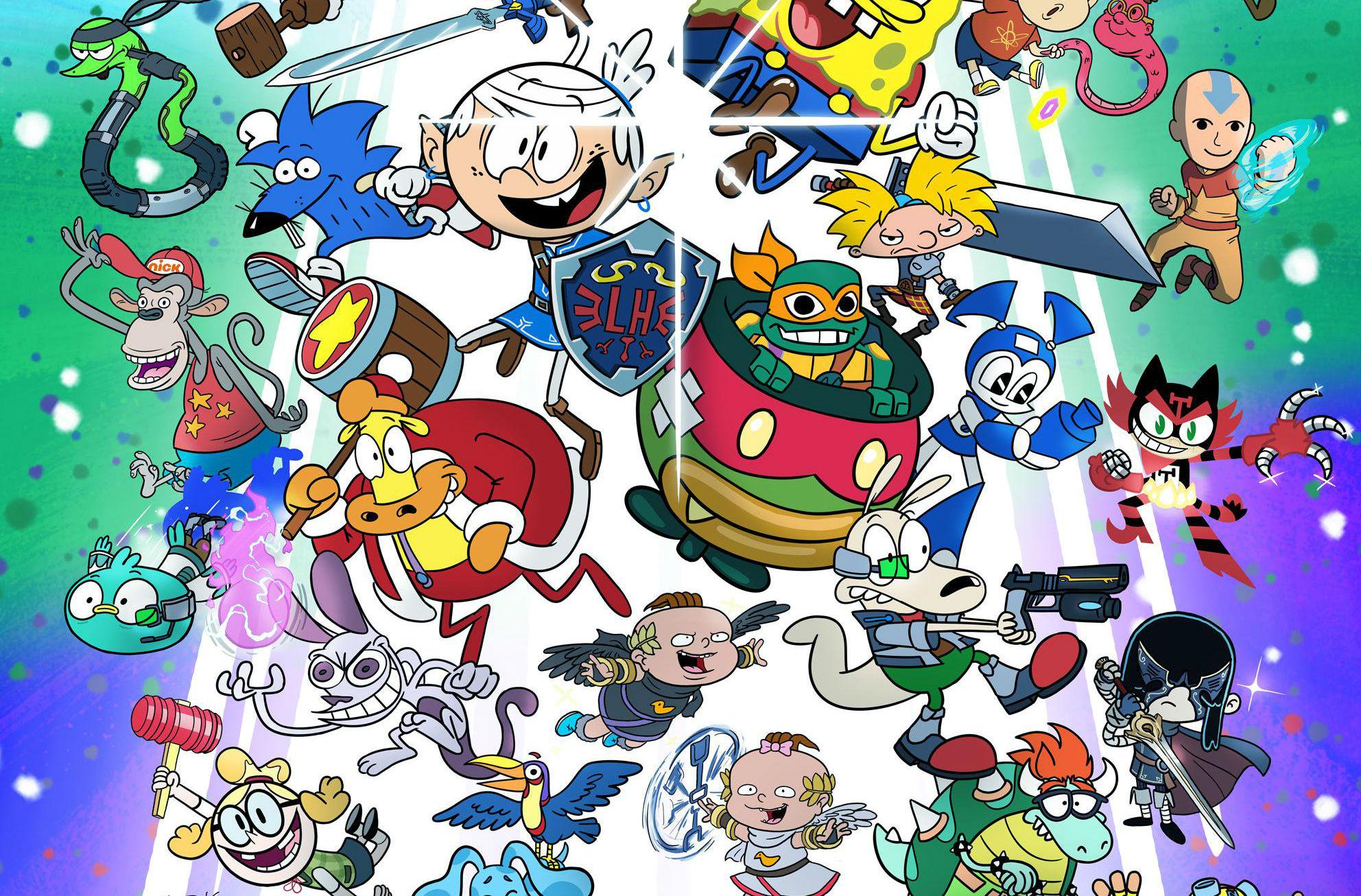 Official Nickelodeon artists made this Nick Cartoon Smash Bros. mashup poster screenshot