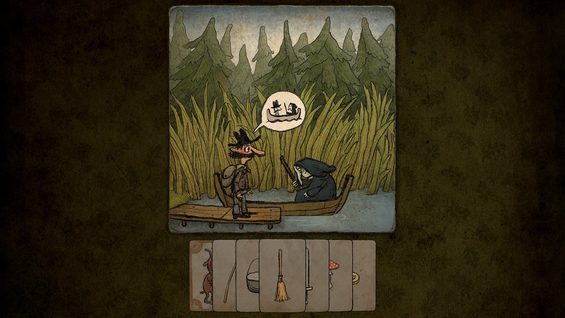 Amanita's latest adventure-game snack, Pilgrims, is out on Apple Arcade and PC screenshot