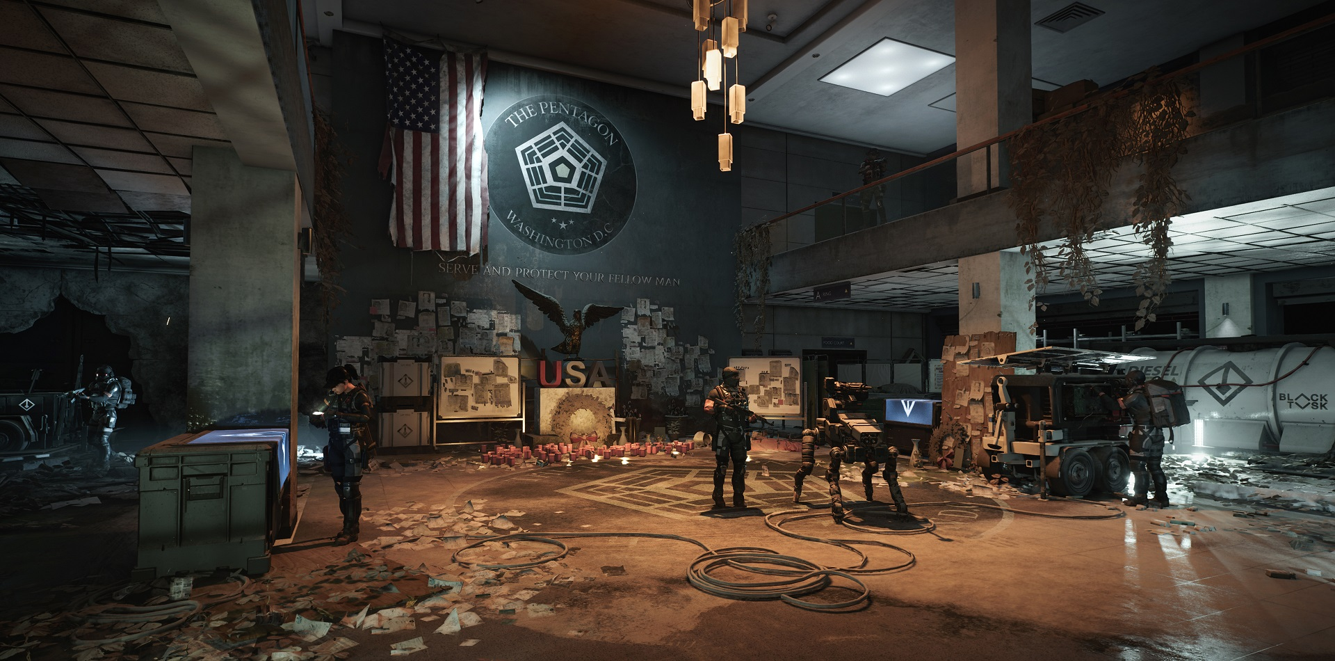 The Division 2's second raid gets filibustered into 2020 screenshot