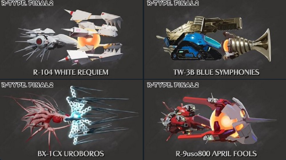 Which of these four ships would you like to see in R-Type Final 2? screenshot