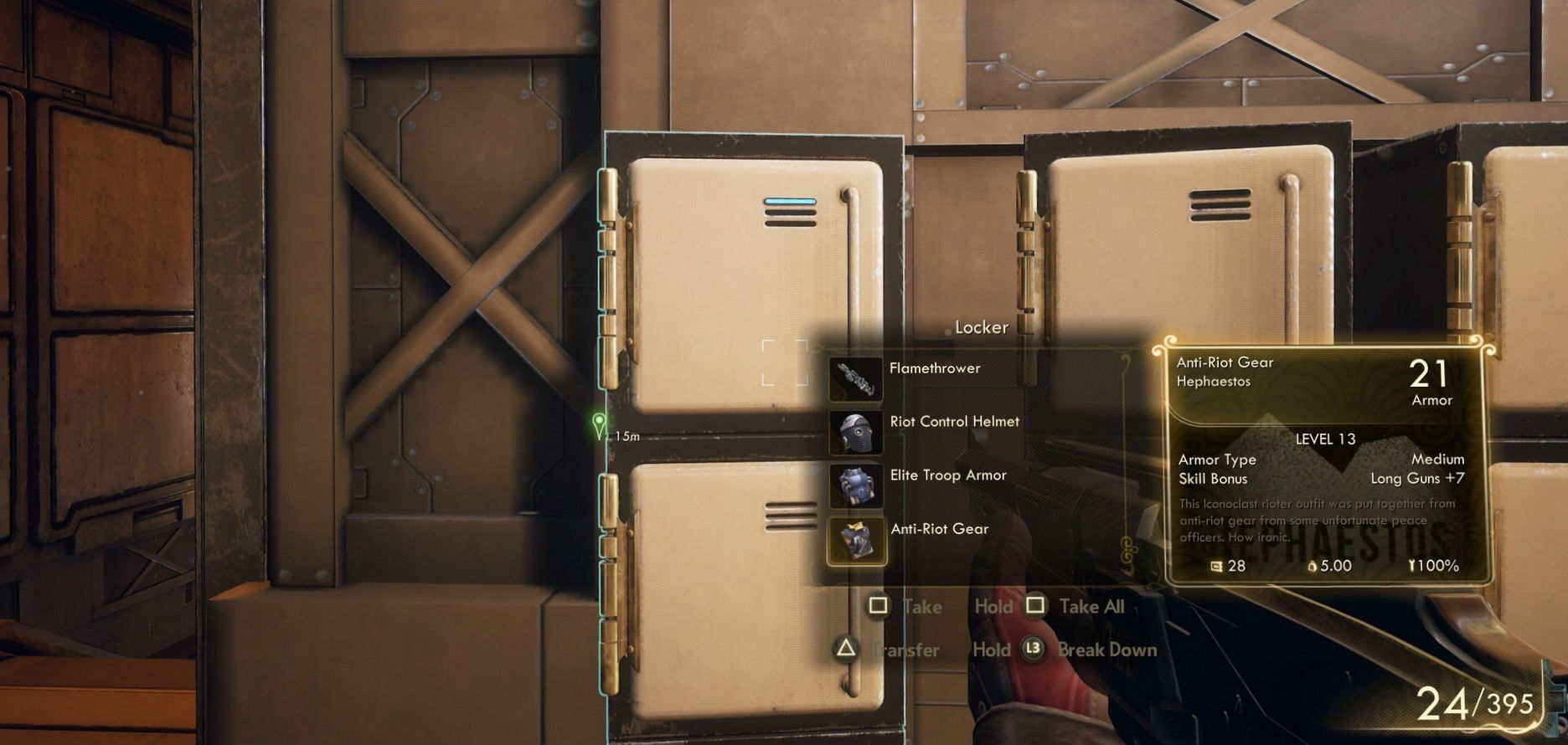 PSA: There are no banks in The Outer Worlds, stash your stuff in lockers screenshot
