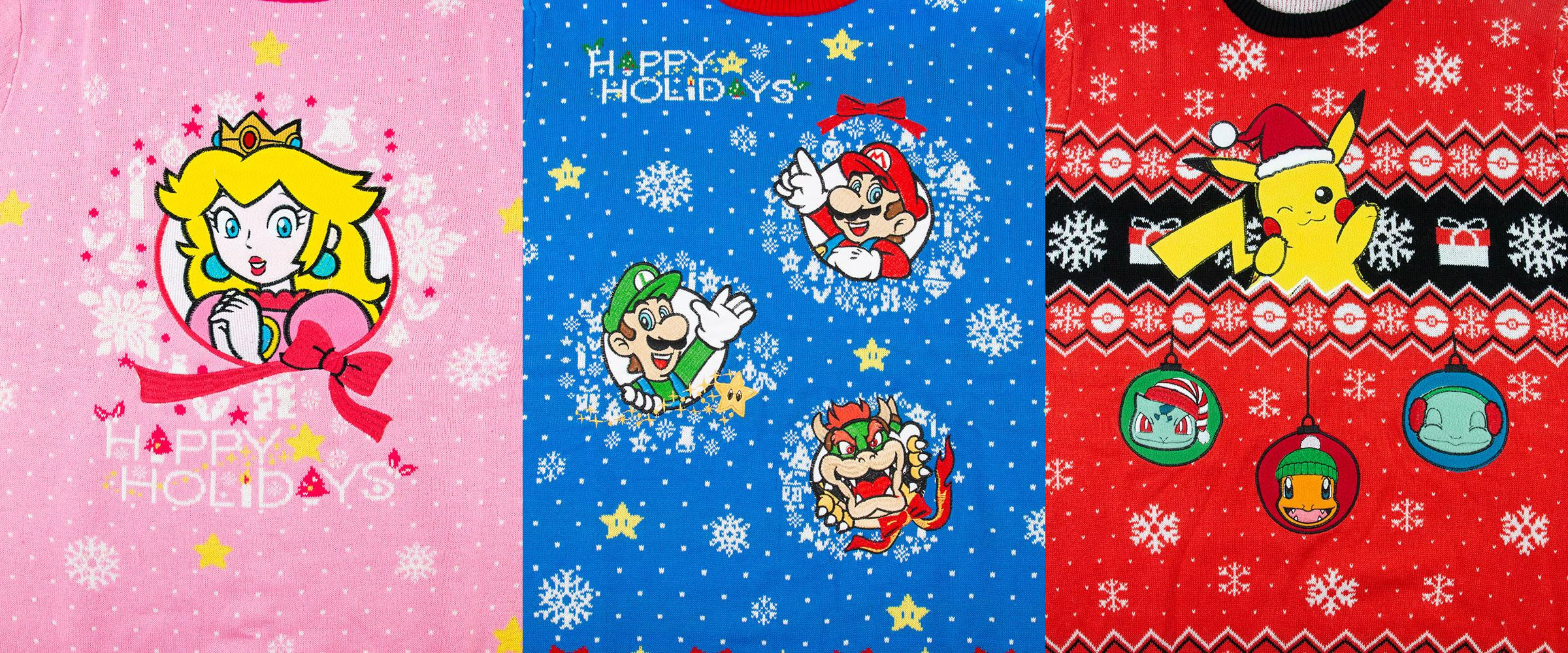 Nintendo Christmas.Nintendo S Christmas Sweaters Could Be Uglier