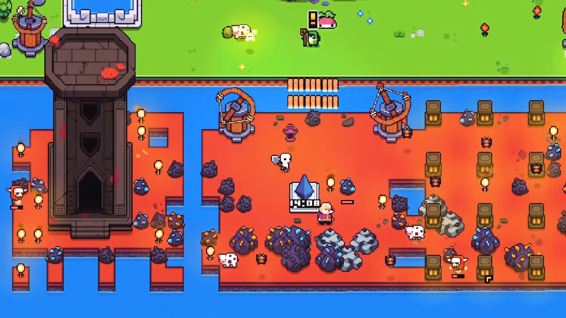Forager is worth playing again with the Combat update screenshot