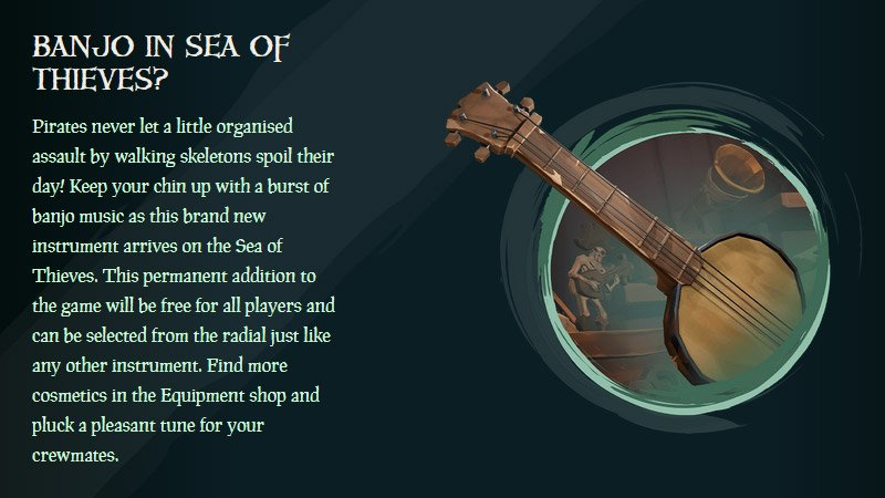 This banjo in Sea of Thieves isn't quite what fans pictured