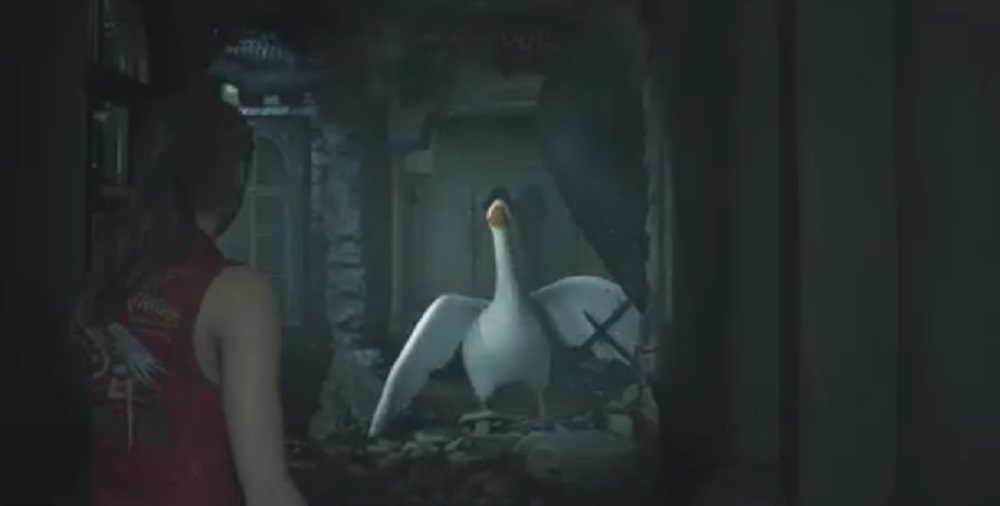 Untitled Goose modded into Resident Evil 2 and things are looking beak screenshot