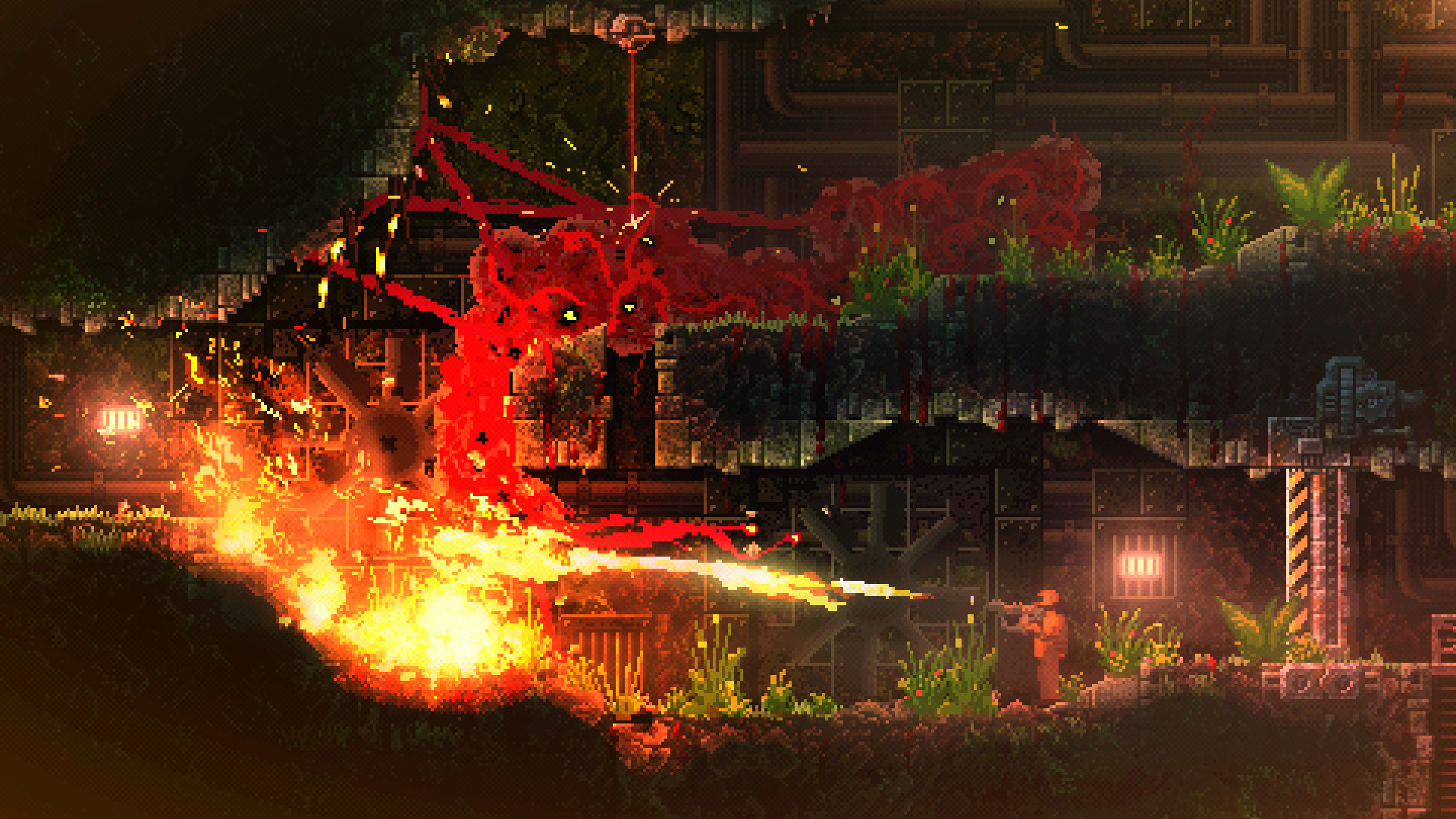 Cathartic monster game Carrion has a demo on Steam screenshot