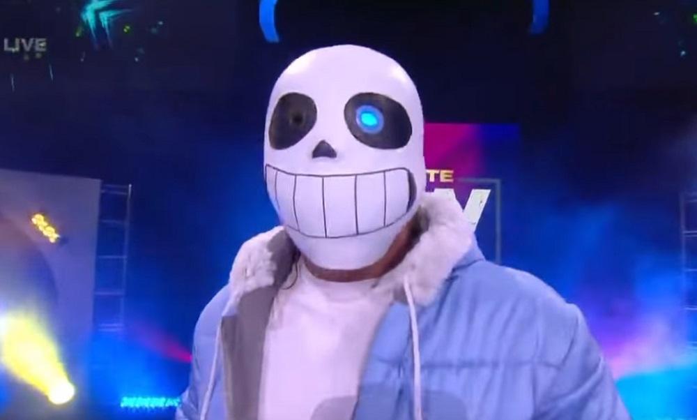 AEW wrestler Kenny Omega rocks Undertale cosplay for Halloween show screenshot
