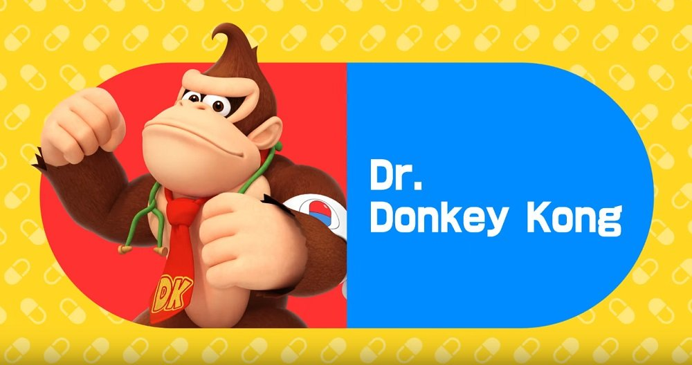 Dr. Donkey Kong will see you now in Dr. Mario World screenshot