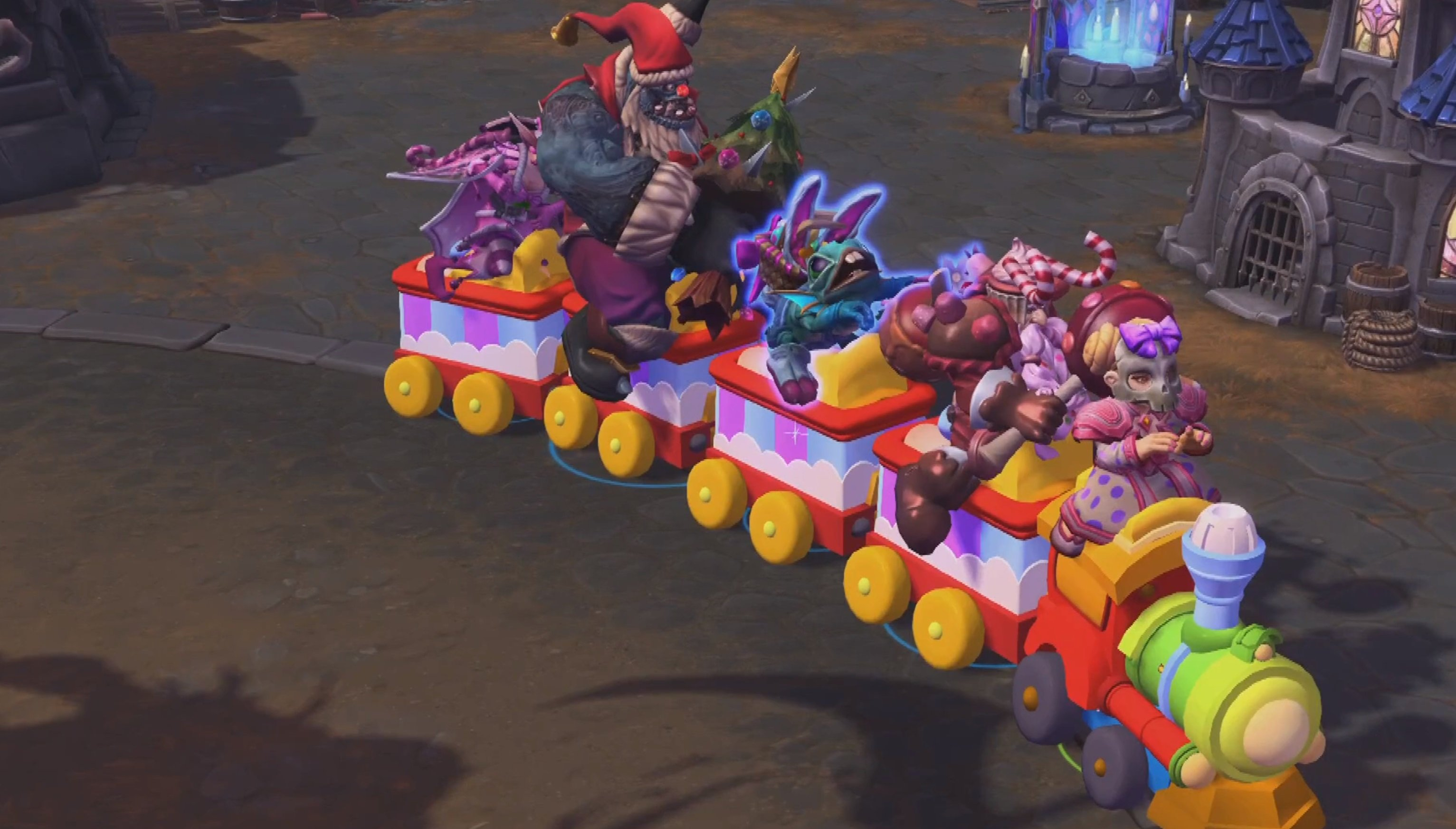 Heroes of the Storm is getting a literal 'pain train' mount that fits the entire team, as well as Muppet Mephisto screenshot