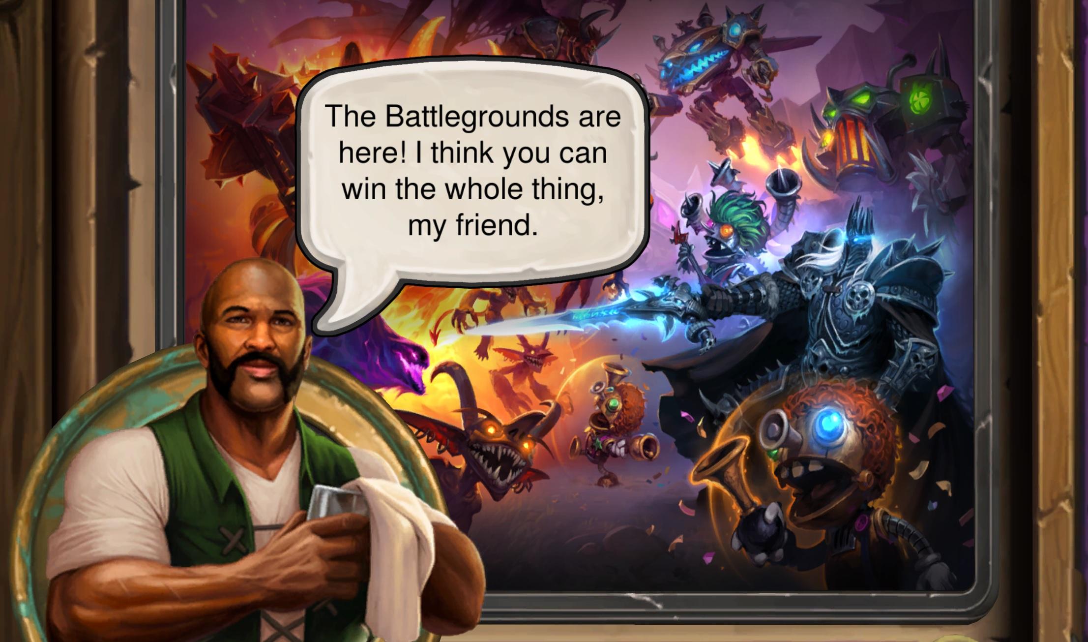 Hearthstone needed more diversions like Battlegrounds, the promising new eight player Auto Battler mode screenshot