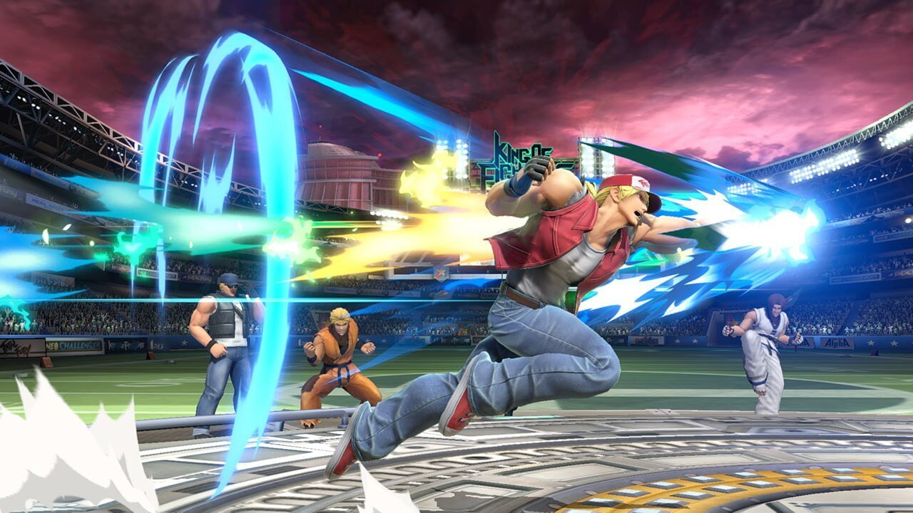 Terry's kit in Smash Ultimate further helps the case that Smash is a fighting game series screenshot