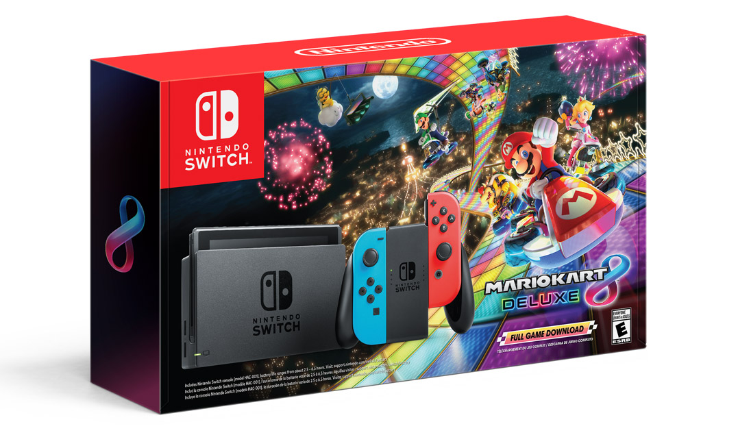 Mario Kart 8 Deluxe Nintendo Switch bundle - Black Friday 2019