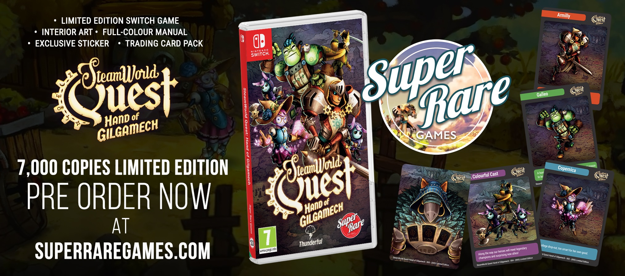 SteamWorld Quest Switch contest Super Rare Games