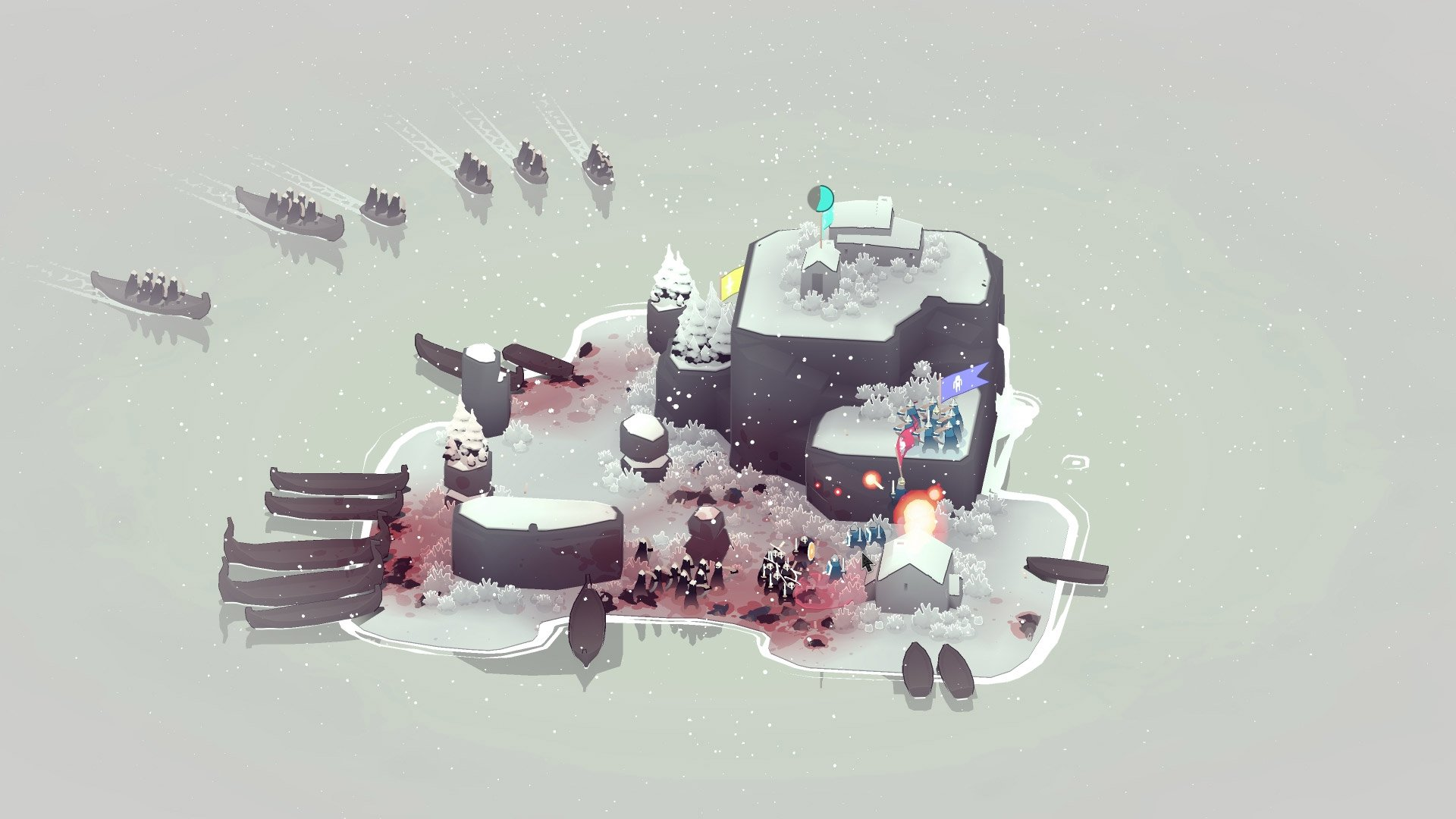 Bad North, a tricky island defense game, is free on Epic screenshot