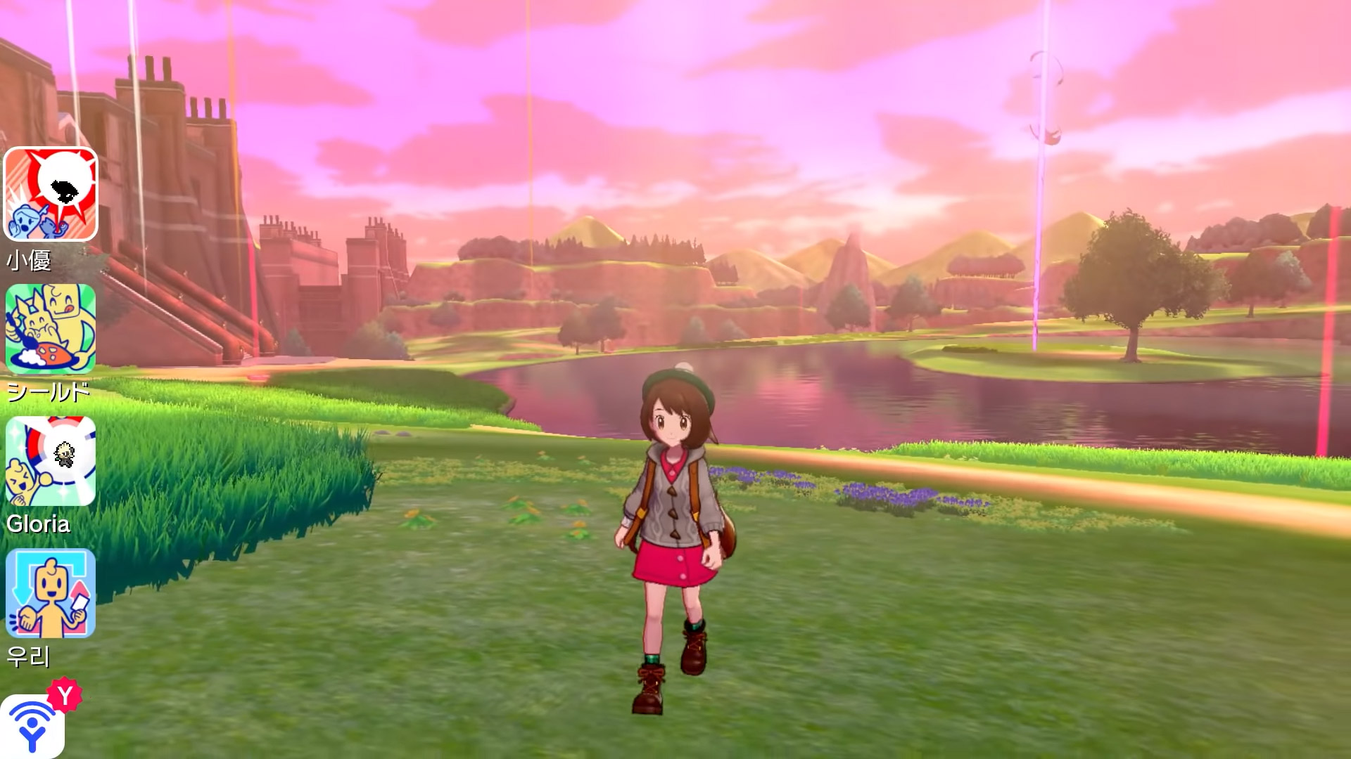 I can't stop dilly-dallying in the Pokemon Wild Area screenshot