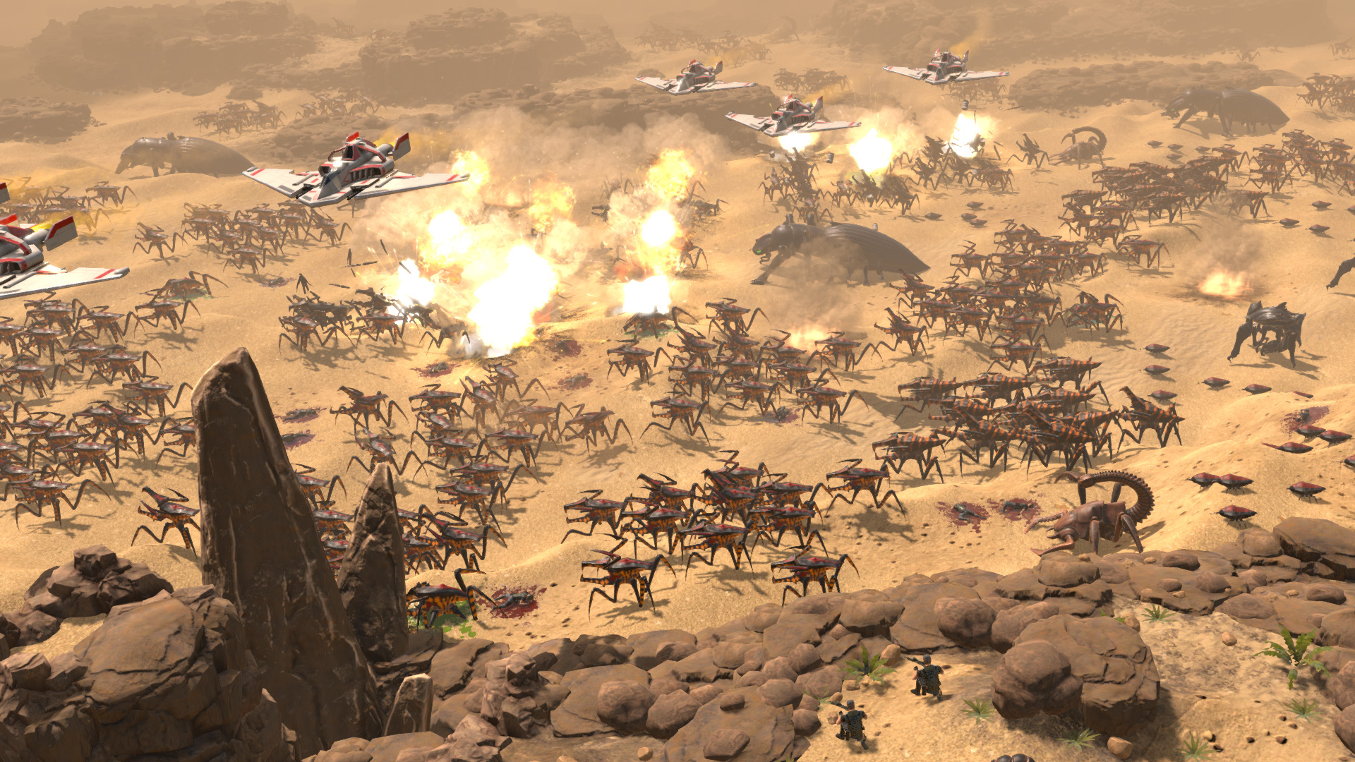 Starship Troopers is being turned into an RTS, probably won't have an iconic shower scene screenshot