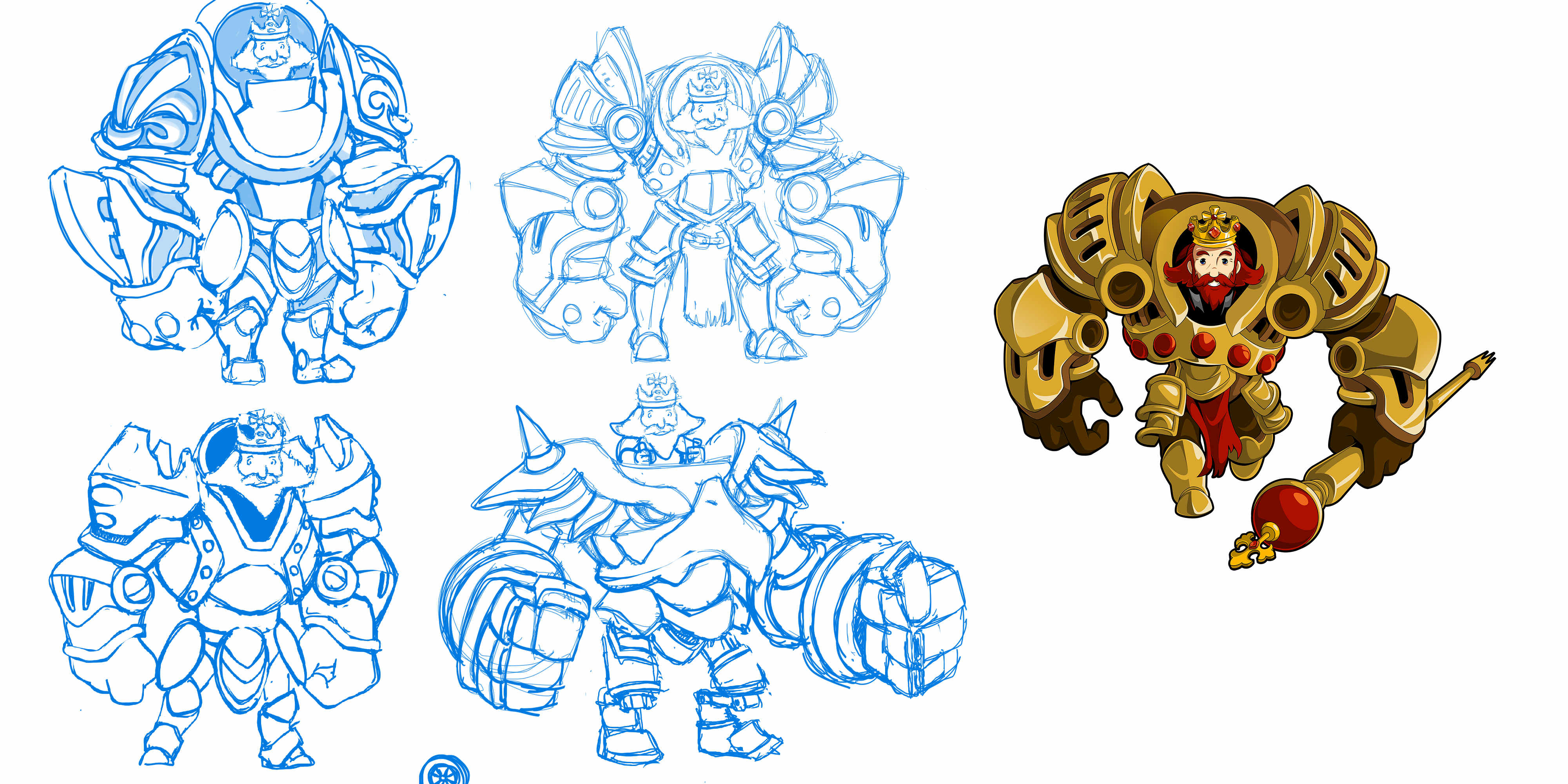 Exclusive: Here's what a Shovel Knight boss looks like from start to finish screenshot