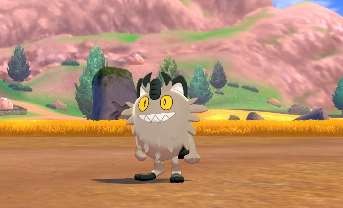 My favorite Pokémon in Sword and Shield is a dirty, smelly, metal cat. What's yours? screenshot