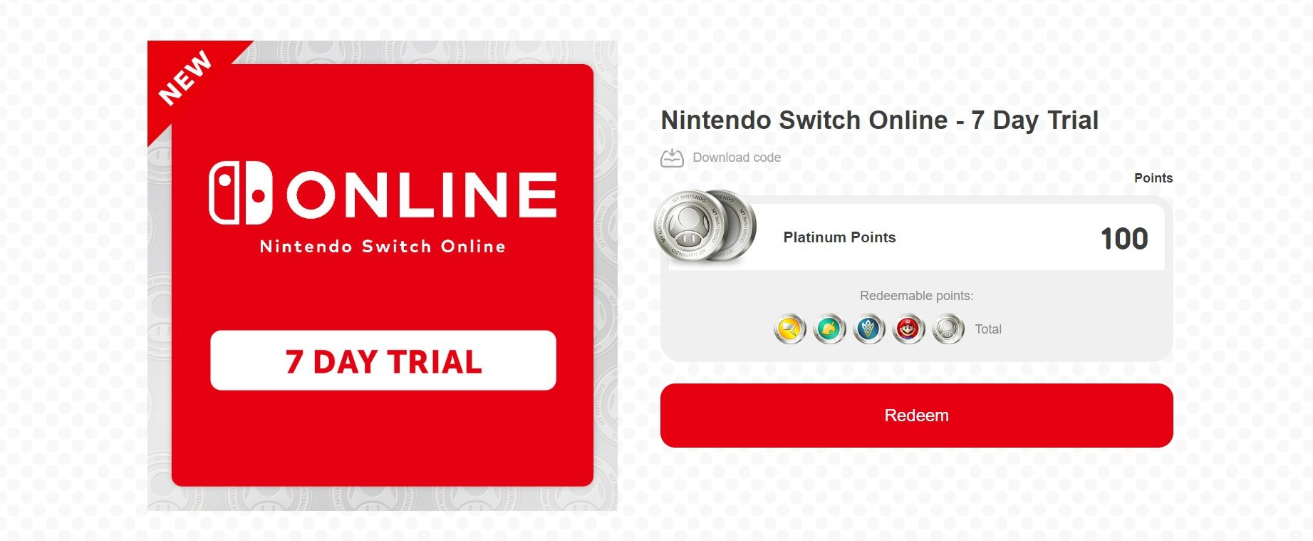 My Nintendo is offering a seven-day free trial for Switch Online through January 31 screenshot
