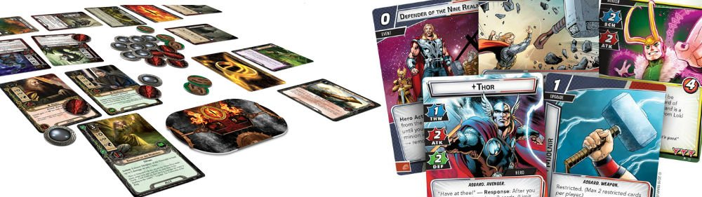 The Lord of the Rings: The Card Game and Marvel Champions LCGs