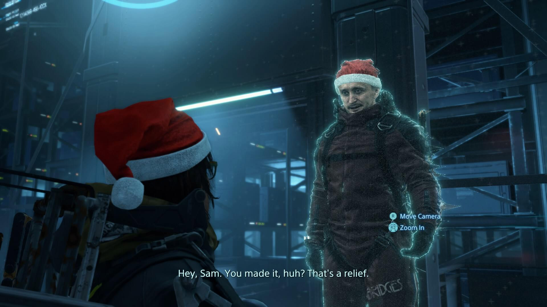 Santa hats are popping up in Death Stranding