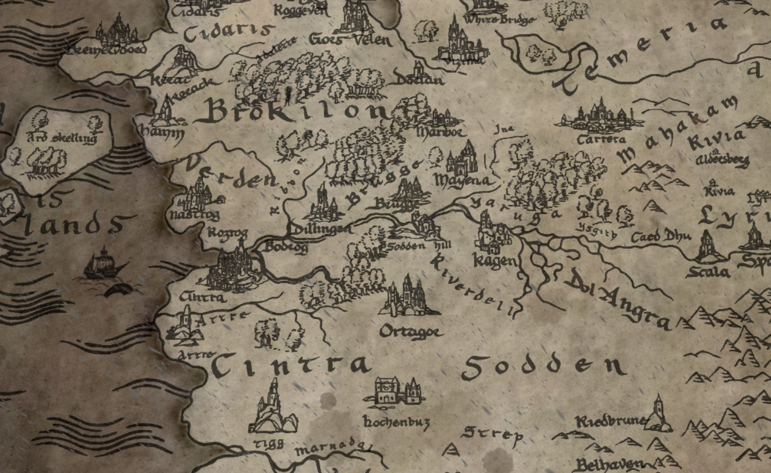 Netflix rolls out map of the Witcher universe, some of which lines up with the games screenshot