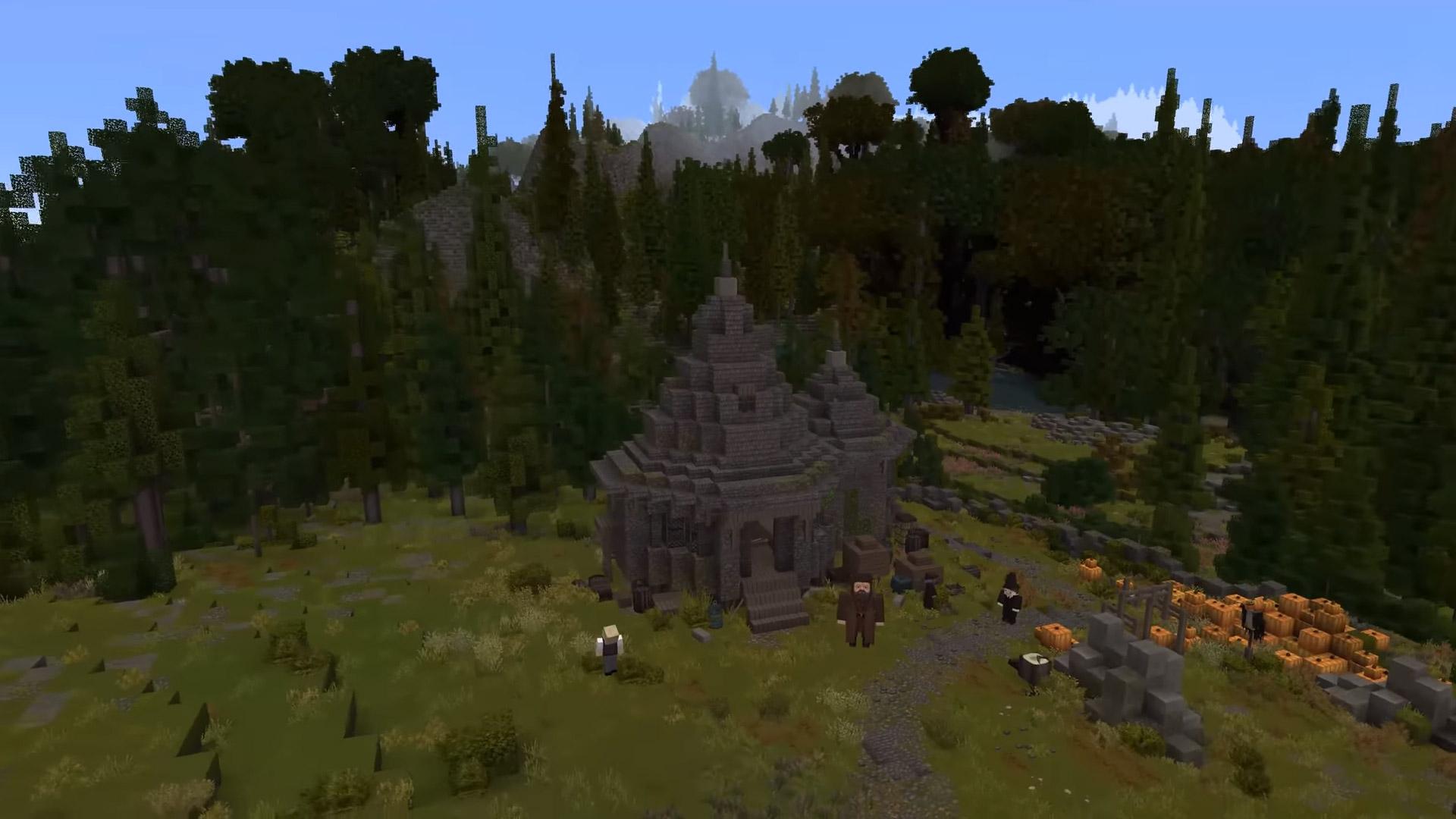 Minecraft meets Harry Potter in this heartfelt RPG map screenshot