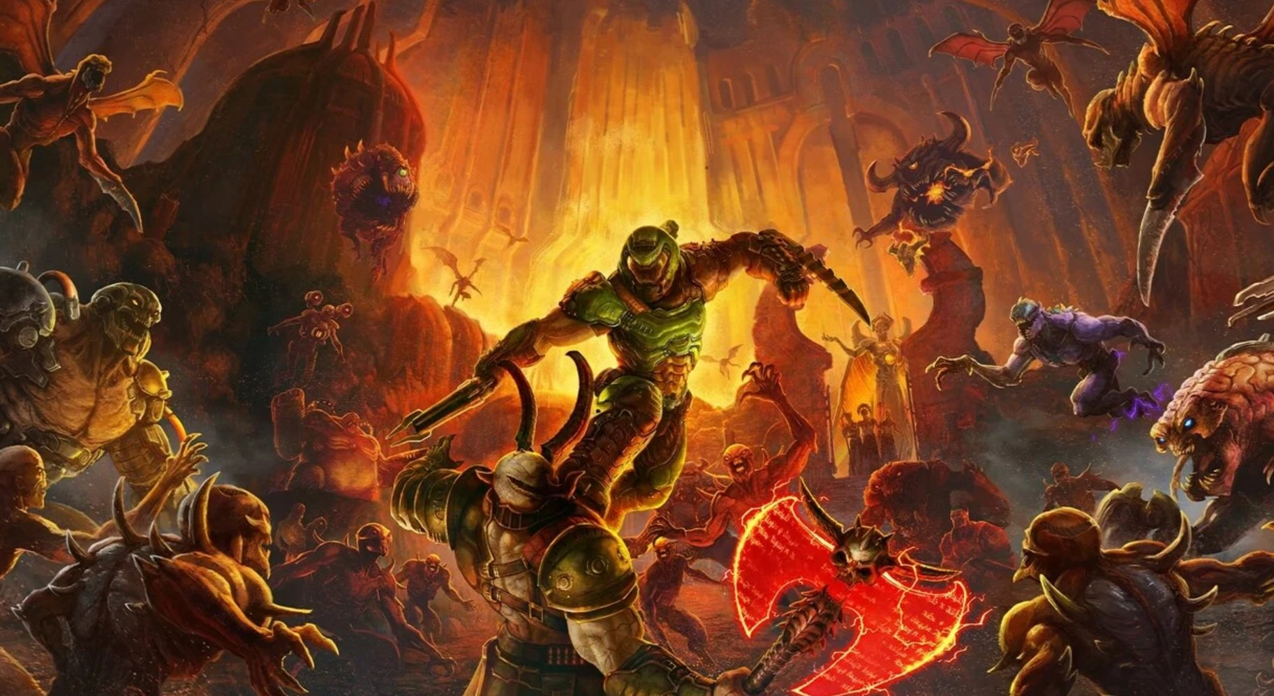 This new Doom Eternal trailer both rips and/or tears screenshot