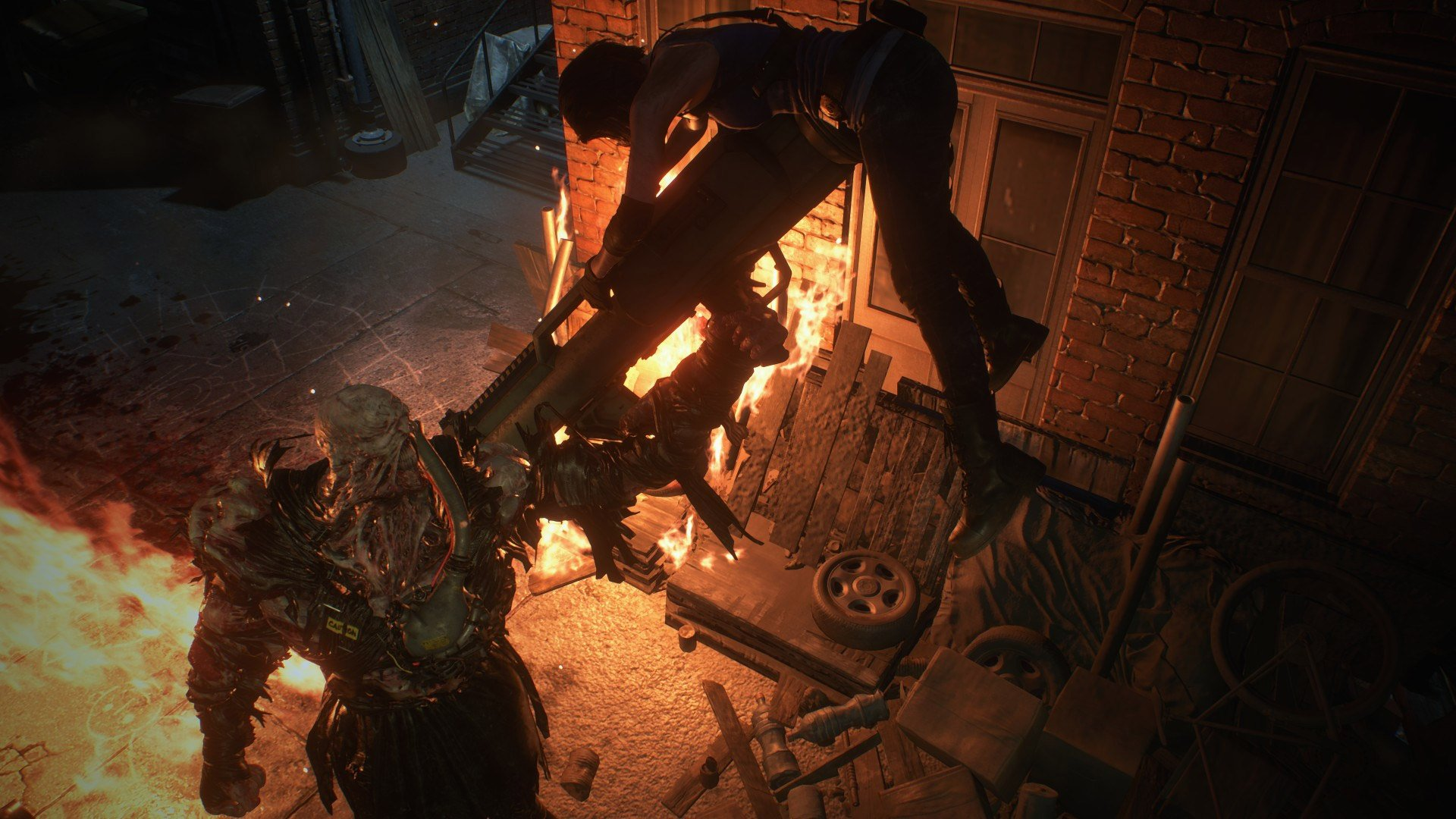 Resident Evil 3 opens up with a look at the wider cast screenshot