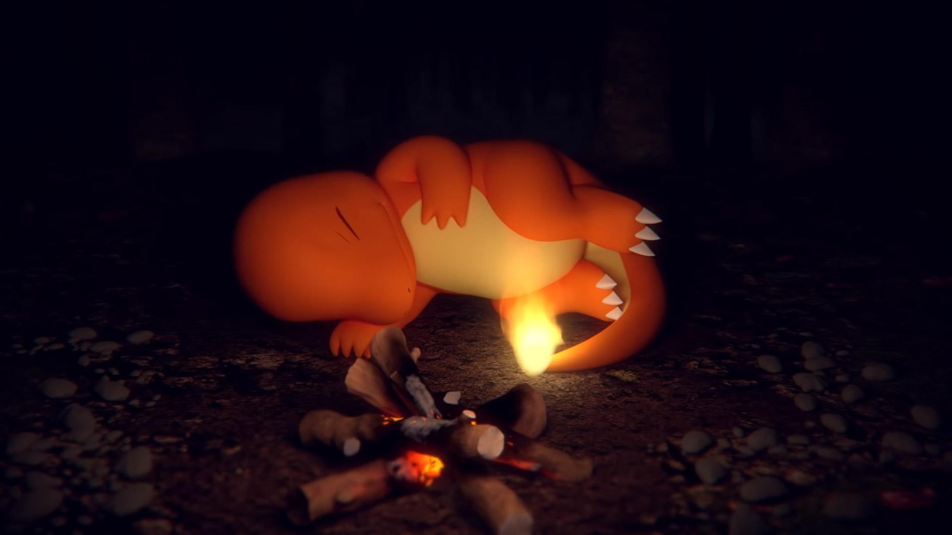 The Pokemon Company is cool with us watching a Charmander sleep