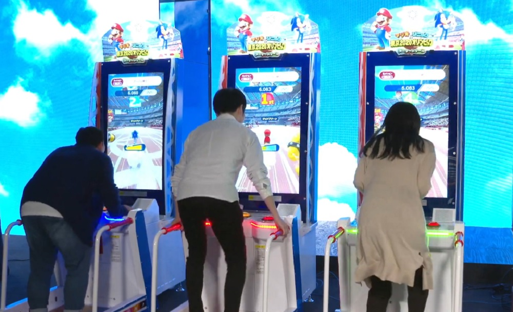Check out this great Mario & Sonic at the Olympic Games arcade machine
