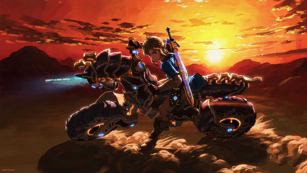 This Zelda: Breath of the Wild player stunts on enemies on their motorcycle like they were in a Mad Max film