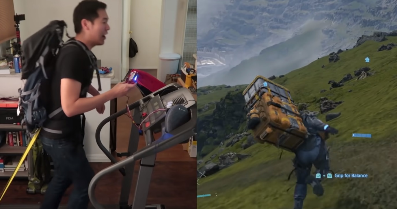 If virtual running wasn't enough, watch this person use a treadmill to control Death Stranding