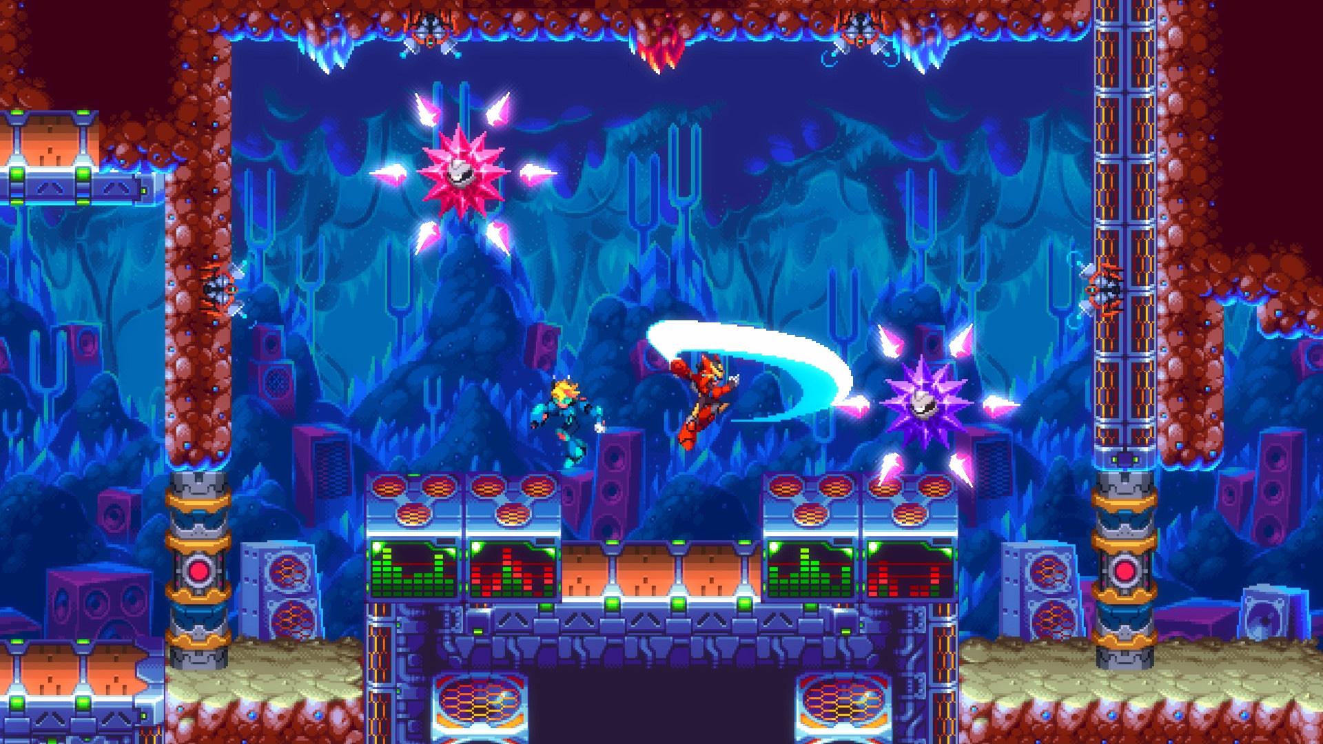 30XX is a stylish roguelike take on Mega Man X and Zero screenshot