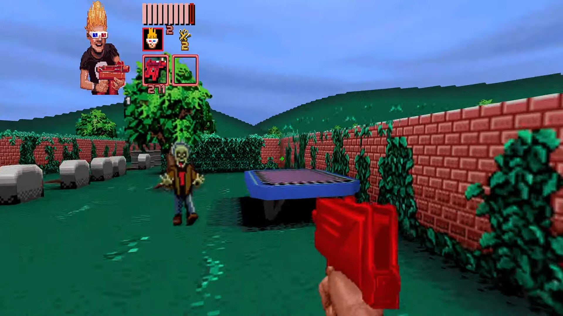 Zombies Ate My Neighbors and Doom are a match made in heaven screenshot