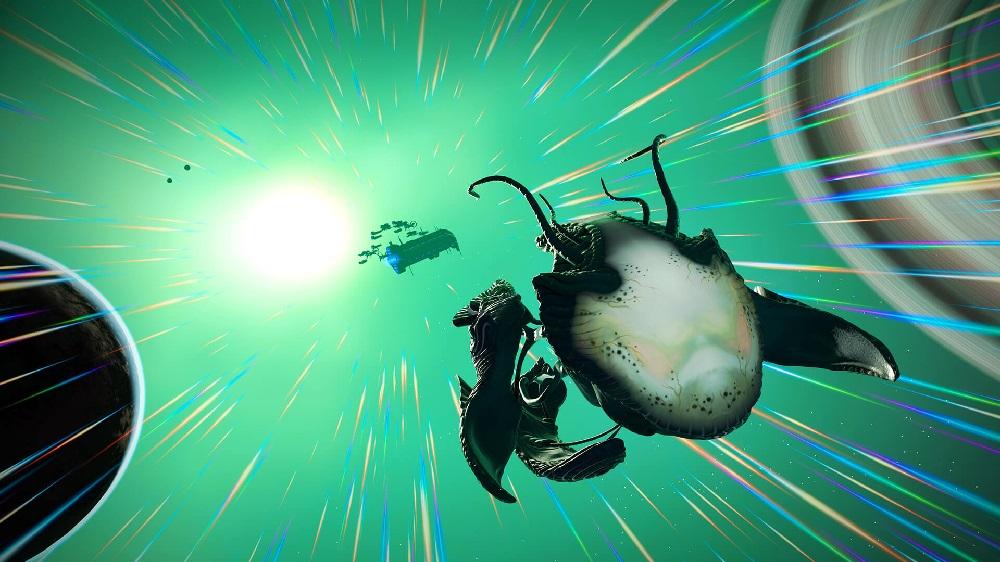 Weird bio-ships abound in No Man's Sky's latest update screenshot