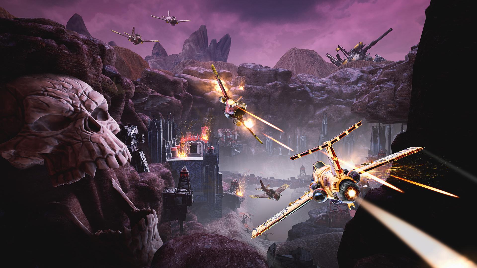 Warhammer 40,000: Dakka Squadron is an Ork aerial combat game screenshot