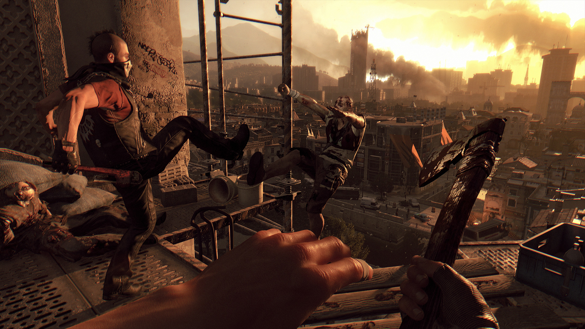 Dying Light is free to play this weekend on PC with a new Story Mode difficulty screenshot