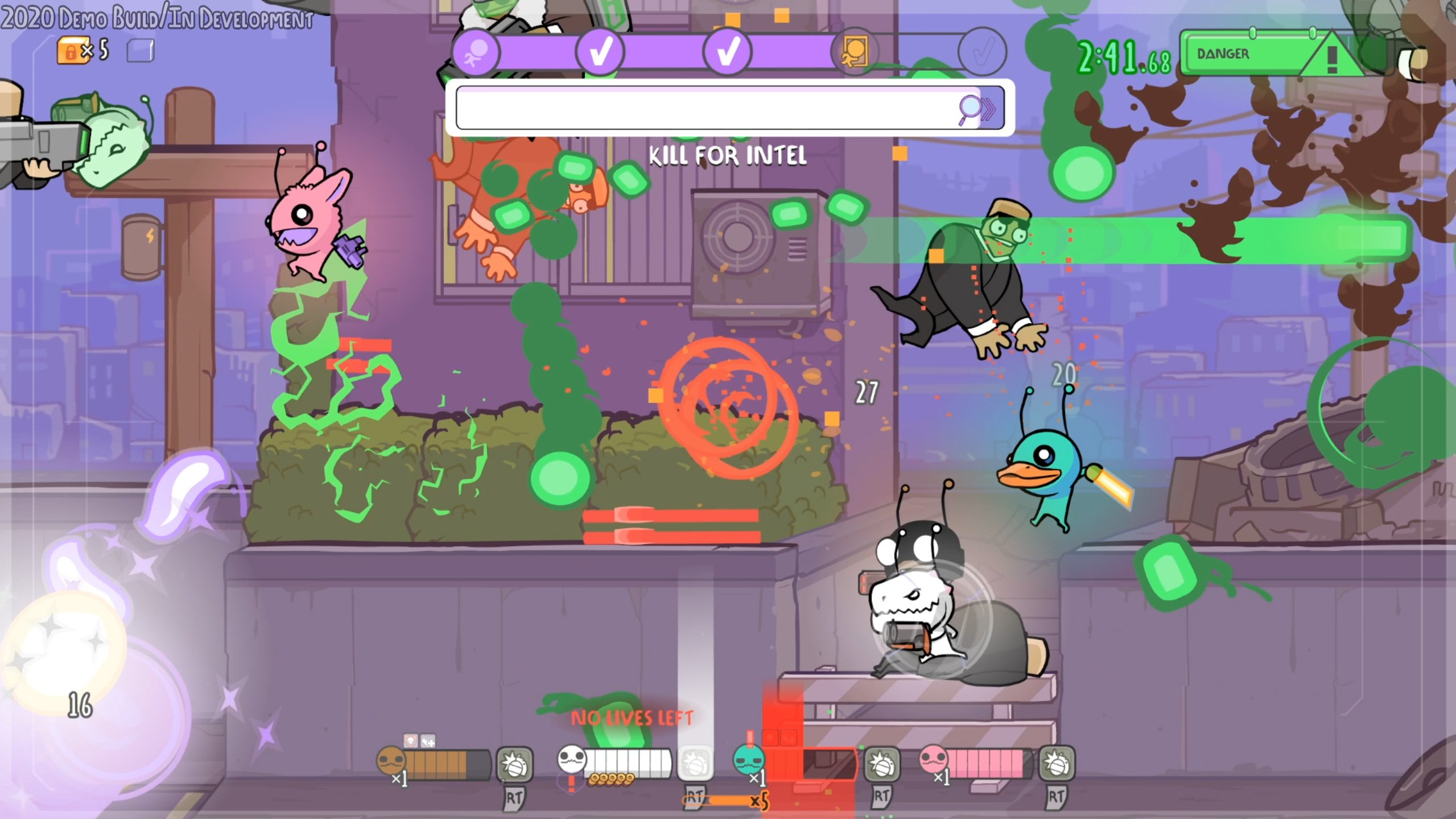 Alien Hominid Invasion is a run-and-gun with lots of loot screenshot