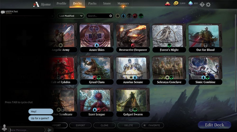 Magic: Arena is finally getting direct messaging with friends screenshot