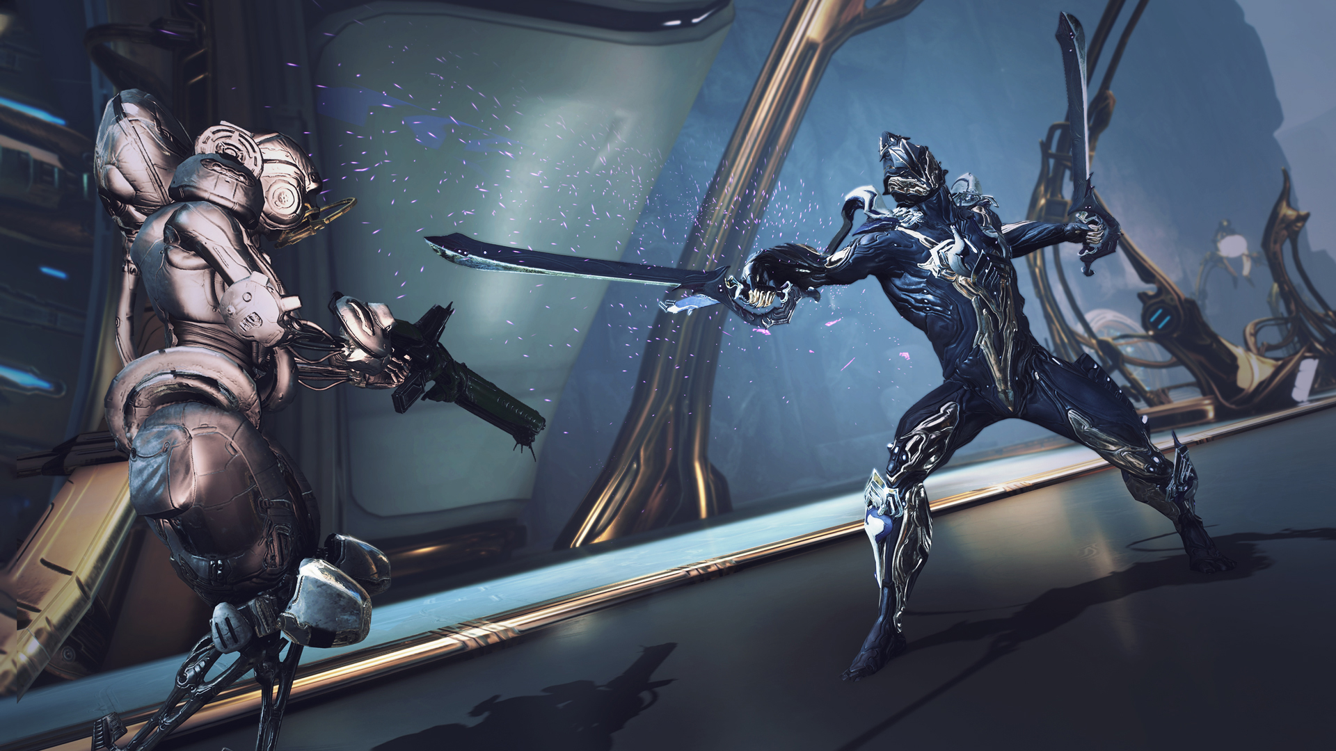 Warframe celebrates seven years with free armor and a design contest screenshot