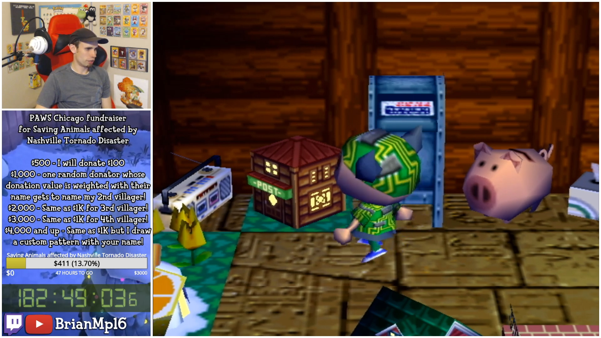 The Post Model costs 999,999,999 bells in Animal Crossing (GameCube)