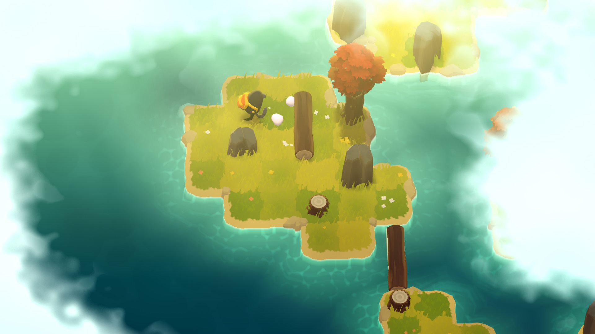 A Monster's Expedition is a chill puzzle game about shoving trees screenshot