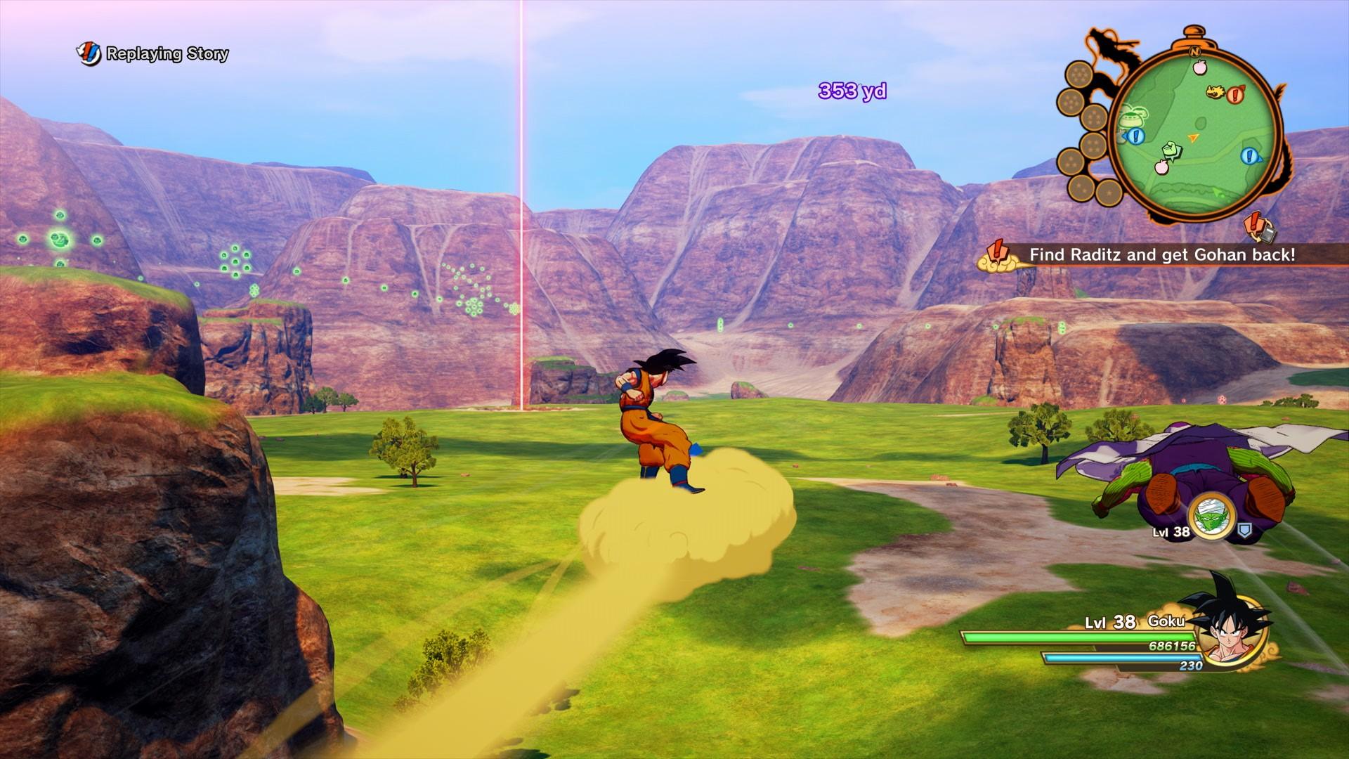 Dragon Ball Z: Kakarot's mission-hopping time machine mechanic arrives today as an update screenshot