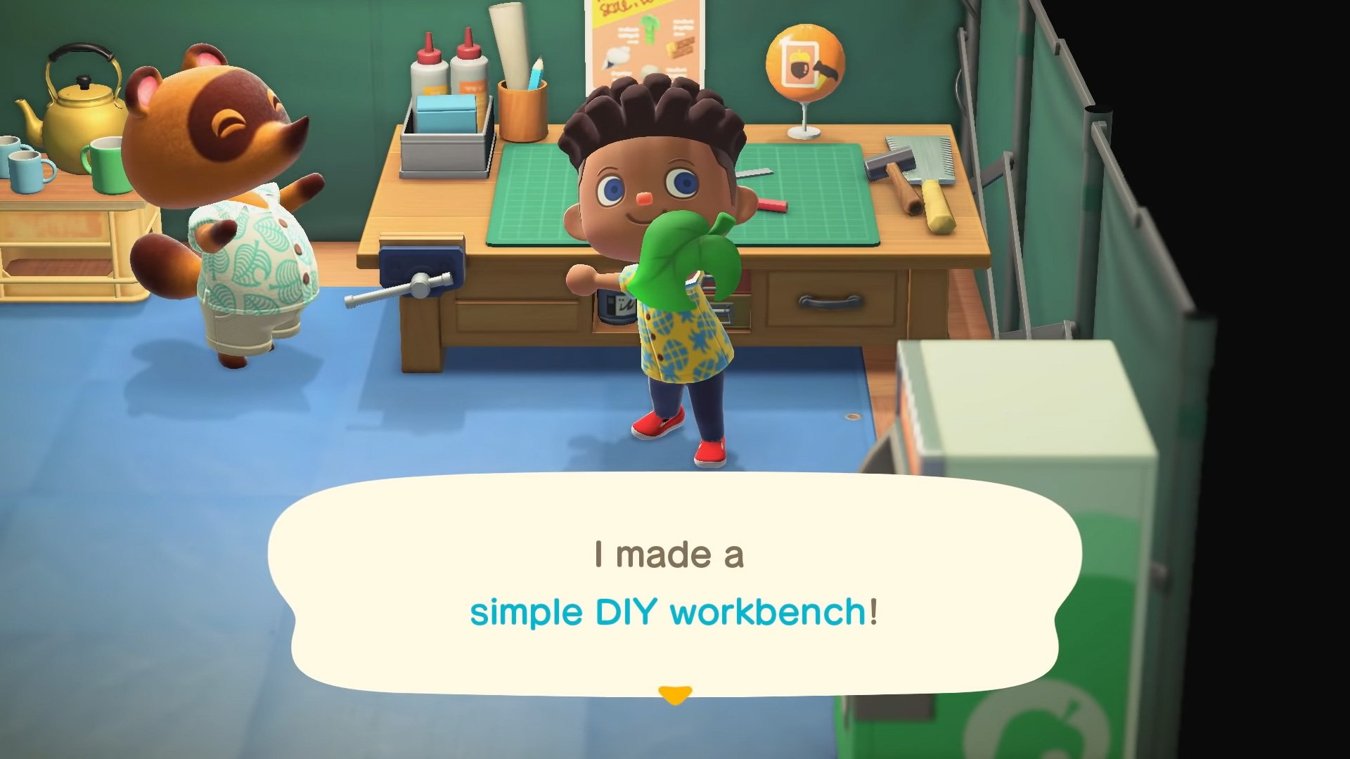 You can tap A to craft faster in Animal Crossing: New Horizons screenshot