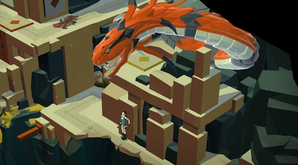 Lara Croft GO is currently free to download on mobile devices screenshot