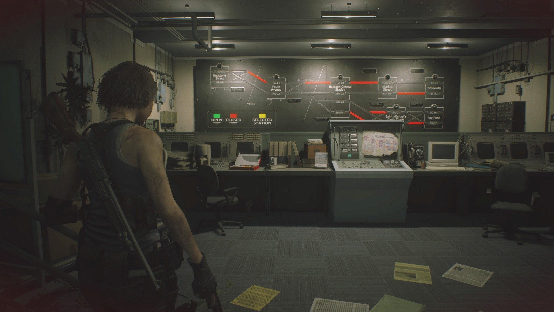 Resident Evil 3 guide: How to solve the subway puzzle screenshot