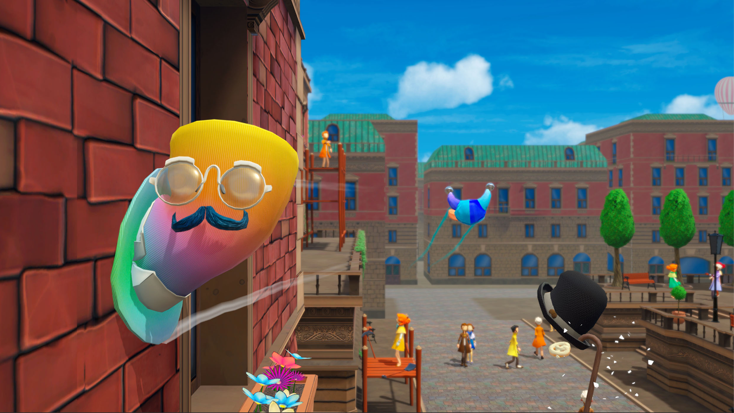 Contest: Tip your hat to a Switch copy of hat-hopping multiplayer game Chapeau screenshot