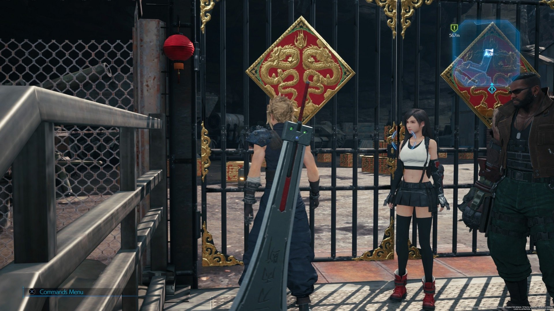 Final Fantasy VII Remake: How to unlock the mysterious red dragon gates screenshot
